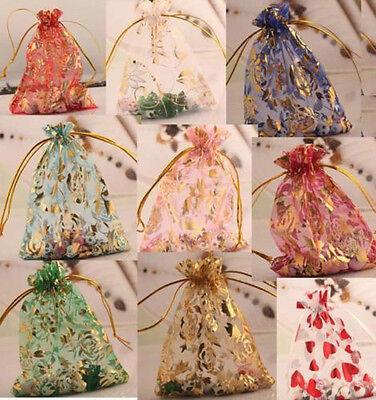 10/100pcs Gauze Organza Bag Jewelry Packing Gift Bags Wedding Favor 10x12cm