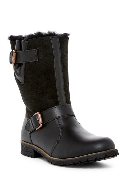 AUSTRALIA LUXE EASYRIDER DOUBLEFACE SHEEPSKIN LEATHER SHEARLING BOOT US 12