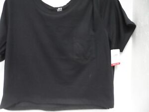 Details about JKY Jockey Women's Cropped T Shirt Black Size Large New!!!
