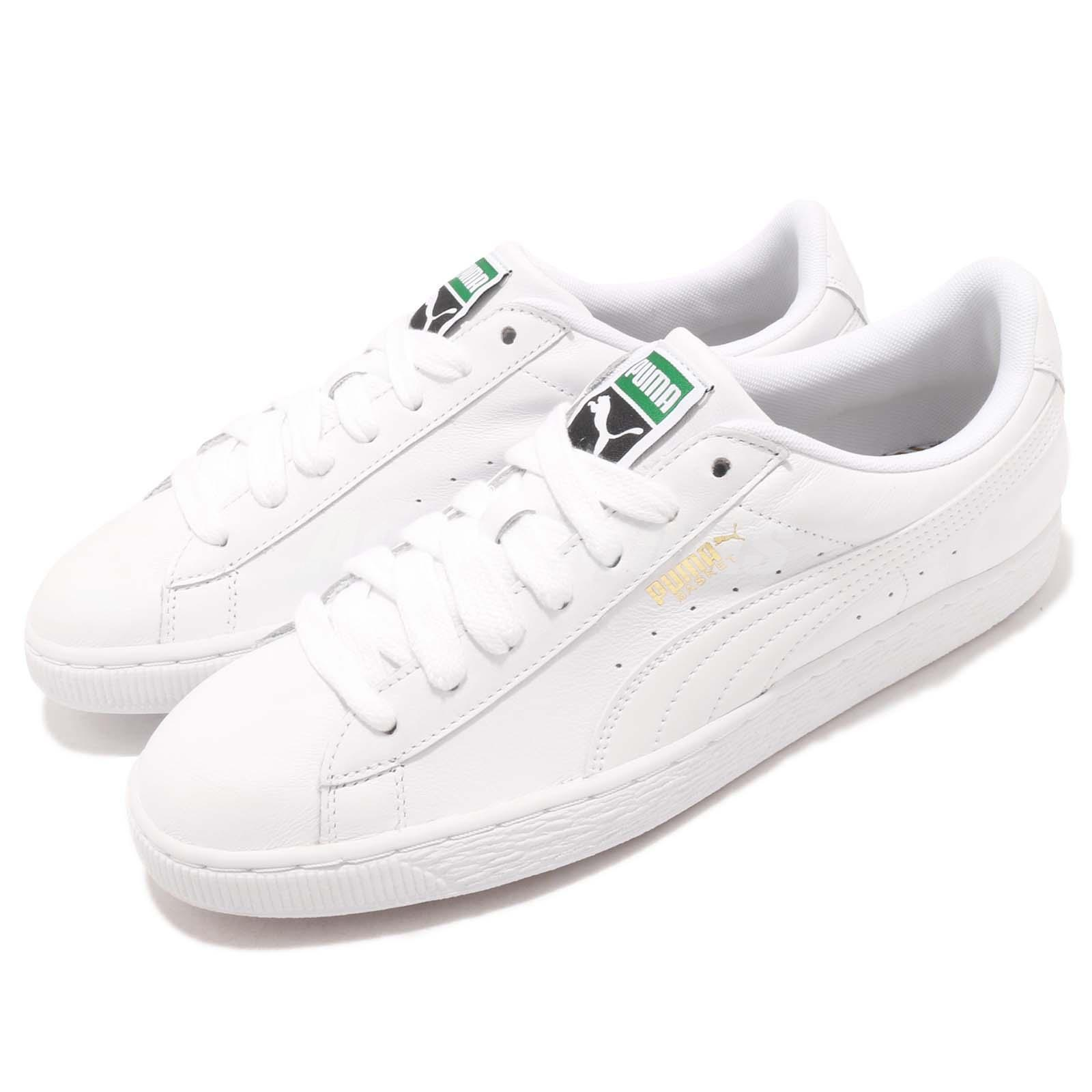 Puma Basket Classic LFS Blanc Leather Homme Casual Chaussures Trainers 354367-17