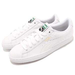 261dc92ede0 Puma Basket Classic LFS White Leather Mens Casual Shoes Trainers ...