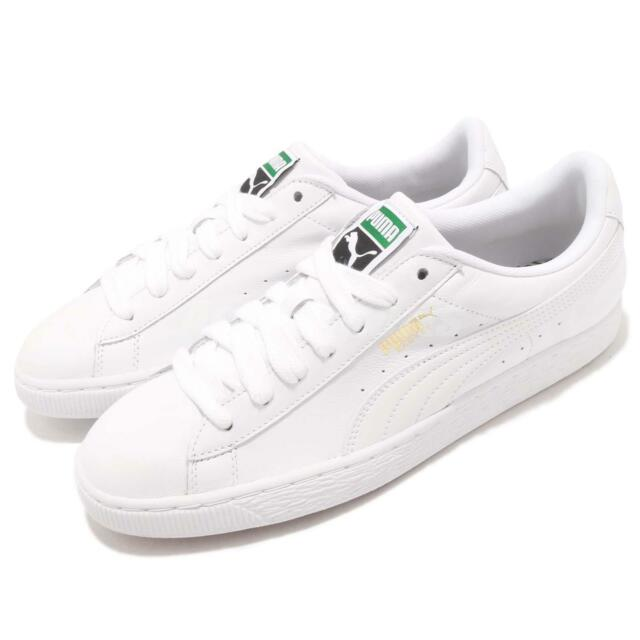 Puma Basket Classic LFS White Leather Mens Casual Shoes Trainers 354367-17 589987411