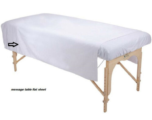 1 WHITE MASSAGE TABLE FLAT SHEET RIBBED FLANNEL BLANKET SUPREME COVERAGE 70X90