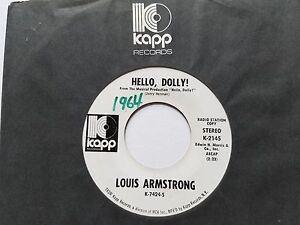 LOUIS-ARMSTRONG-Hello-Dolly-1964-JAZZ-DIXIELAND-Promo-7-034-Kapp