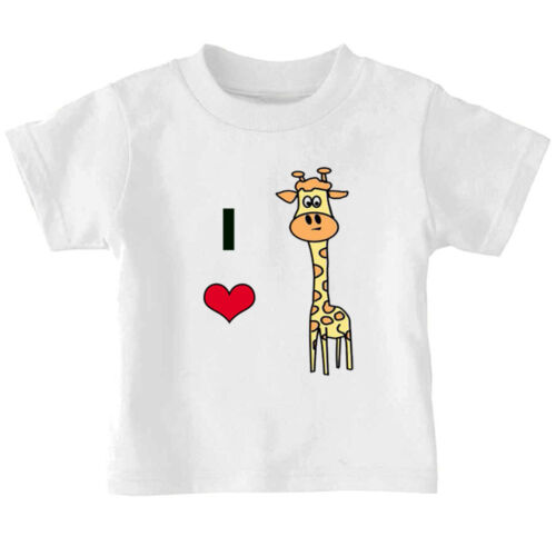 I Love Heart Little Giraffe Cotton Toddler Baby Kid T-shirt Tee 6mo Thru 7t