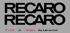Recaro Decal Stickers Set of 2 Mugen JDM Spoon Honda Civic Accord Prelude CRX
