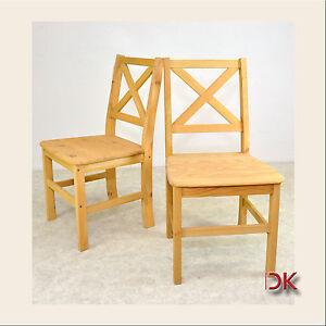 2x stuhl k chen set sessel esszimmer st hle kiefer for Stuhle esszimmer massivholz