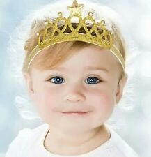 Tiara/crown baby headband-gold