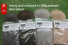 Basing Sand Multipack 4 x 200g Packs - New Colours - Warhammer Diorama Hornby