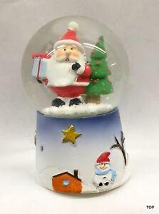 Geschenke Günstig Weihnachten.Details Zu Schneekugel Weihnachtsmann Mit Geschenke Steinharz Weihnachten Glas Günstig