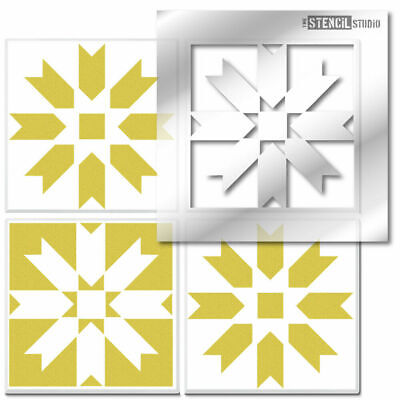 Painting Floors /& Walls Revamp Old Tiles 10629 Chalford Reusable Tile STENCIL