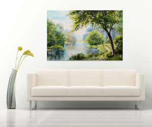 3D-Gruenes-Gras-Fluss-Baum-764-Fototapeten-Wandbild-BildTapete-AJSTORE-DE-Lemon