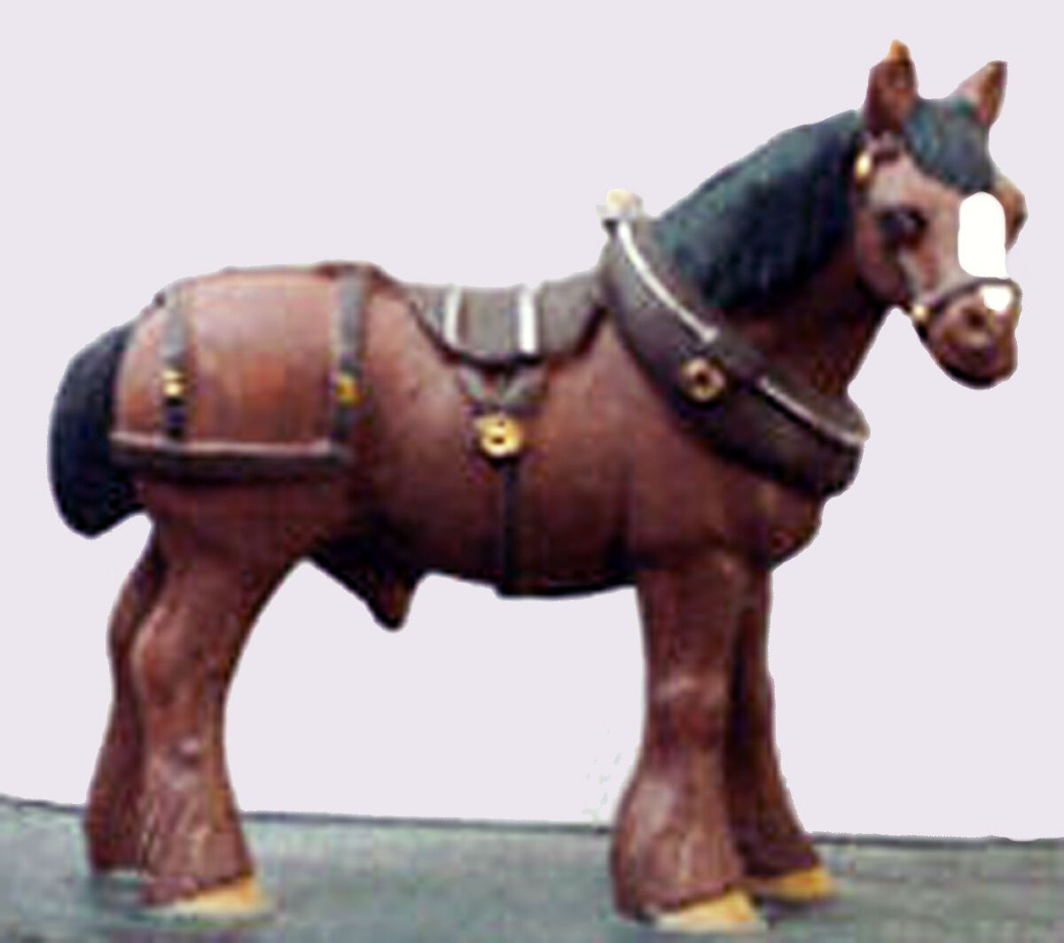 DRAFT HORSE WITH HARNESS On3 On30 O Scale Unpainted Pewter Figure MB047