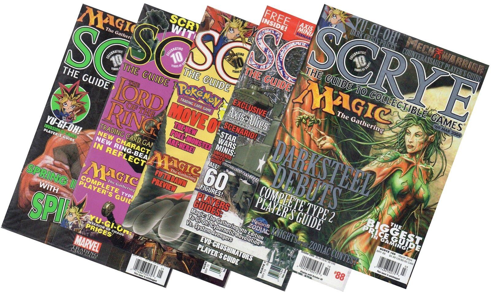 5 x scrye der führer collectible card games  spider - man  dragon pokemon und mehr