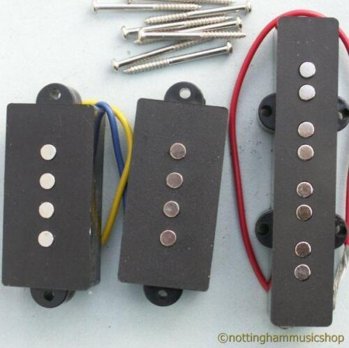 MATCHED SET OF 3 ELECTRIC BASS GUITAR PB//JP PICKUPS NEW PRECISION JAZZ CERAMIC
