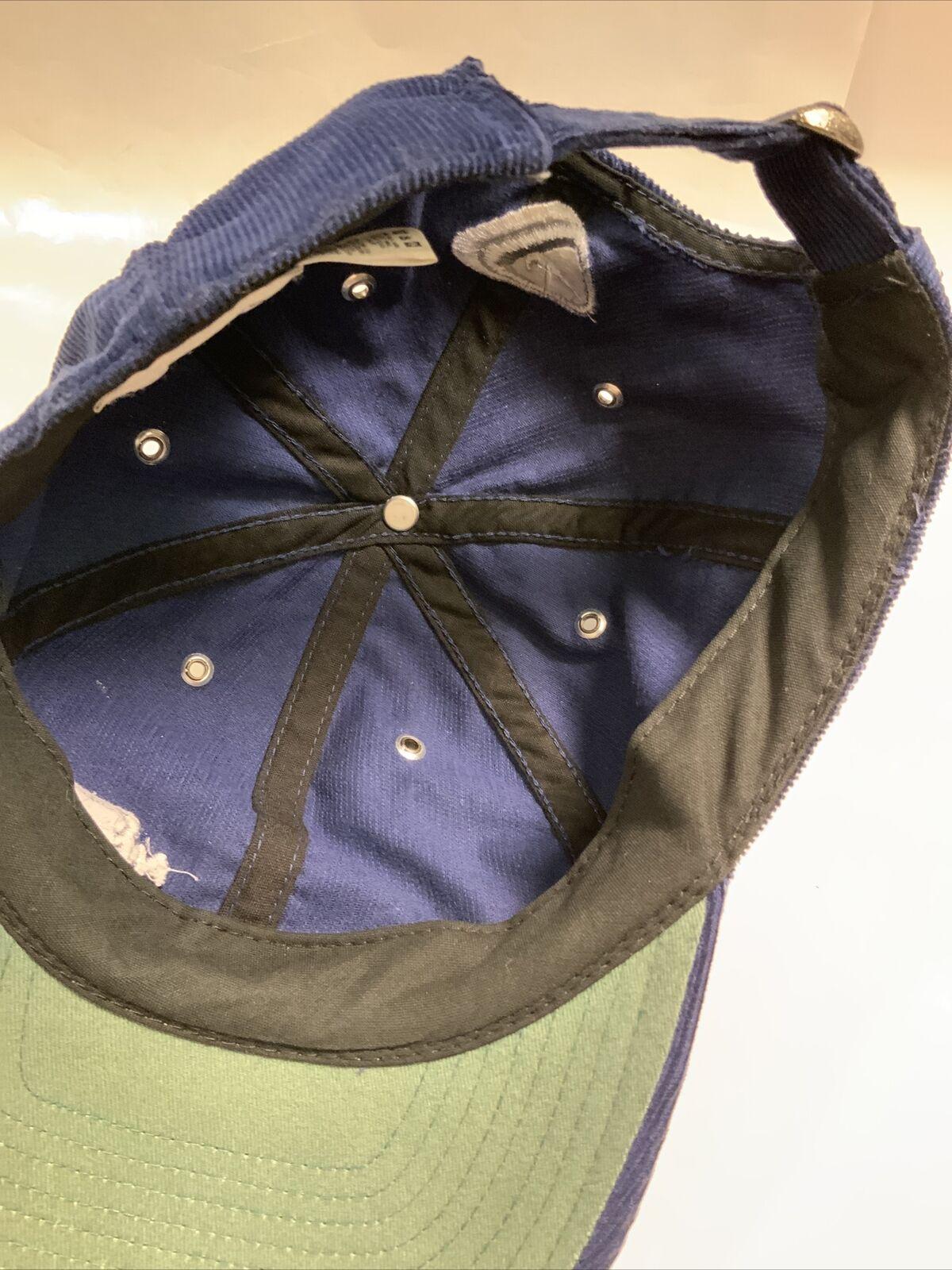 Vintage Nike Hat Corduroy 80s - 90'S Blue AUTHENT… - image 10