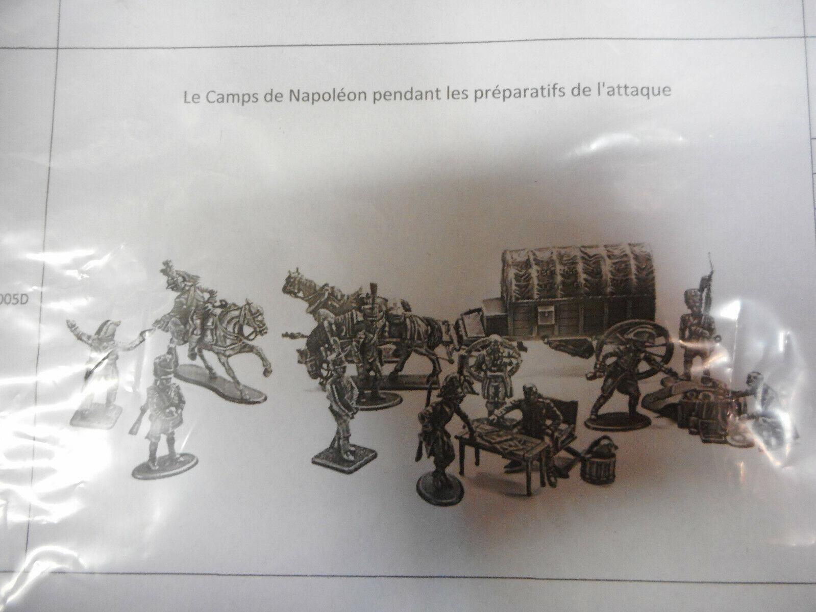 AGATN 005D LOS PREPARATIVOS GUERRA NAPOLEON DIORAMA COMPLETO 54MM 9 PIEZAS ATLAS