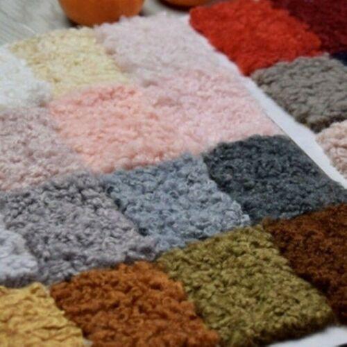 """40x63/"""" Faux Sherpa Shearling Boucle Tissu de laine bouclé Fourrure Peluche Vêtements Jouets À faire soi-même"""