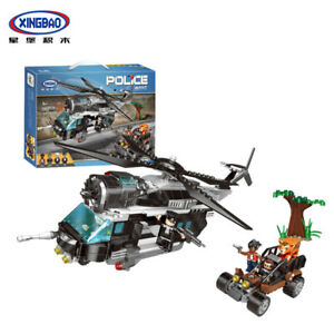 Xingbao-Building-Blocks-Easter-Police-Helicopter-Modell-Kids-Gifts-Toys-600PCS