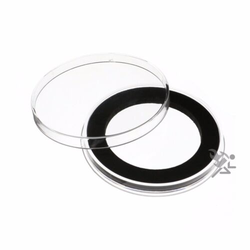 Air-Tite Brand Y48mm Black Ring Capsule Holders for 2oz Silver Libertad Qty 10