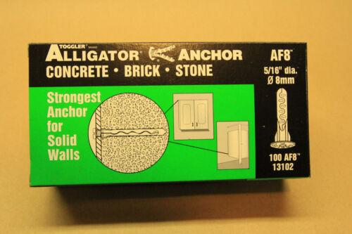 "Toggler Brand Alligator Anchor  AF8  5//16/""  100//Box  Plastic Wall Anchor 13102"