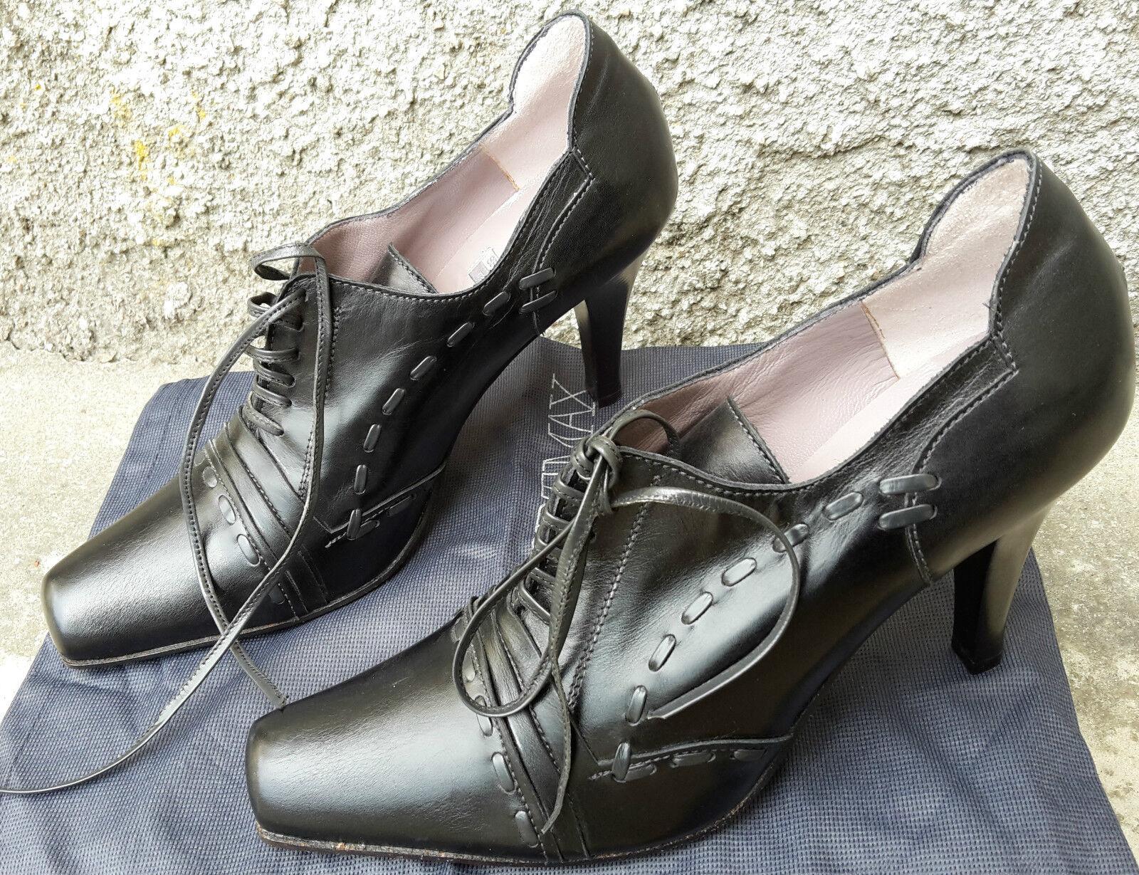 grande sconto Scarpe Scarpe Scarpe Scarpa Donna Francesine SPORTMAX Pelle Nera tacco 9cm n. 36 260 euro  prezzi bassissimi