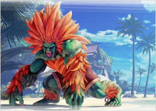 A0 A1 A2 A3 Maxi Blanka Street Fighter Gaming Large Poster Wall Art Print