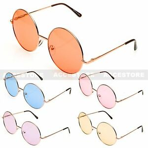 f7401c7dea Summer Fashion Style Lennon Round Shape Color Lens Metal Sunglasses ...