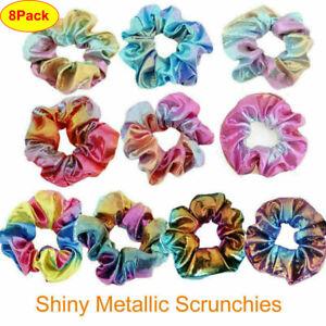 8-Pack-Shiny-Metallic-Hair-Scrunchies-Ponytail-Holder-Elastic-Hair-Ties-Bands-sm