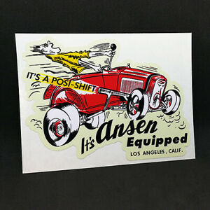 It's Ansen Equipped Vintage Style DECAL/Vinyl STICKER, racing, hot rod, rat rod