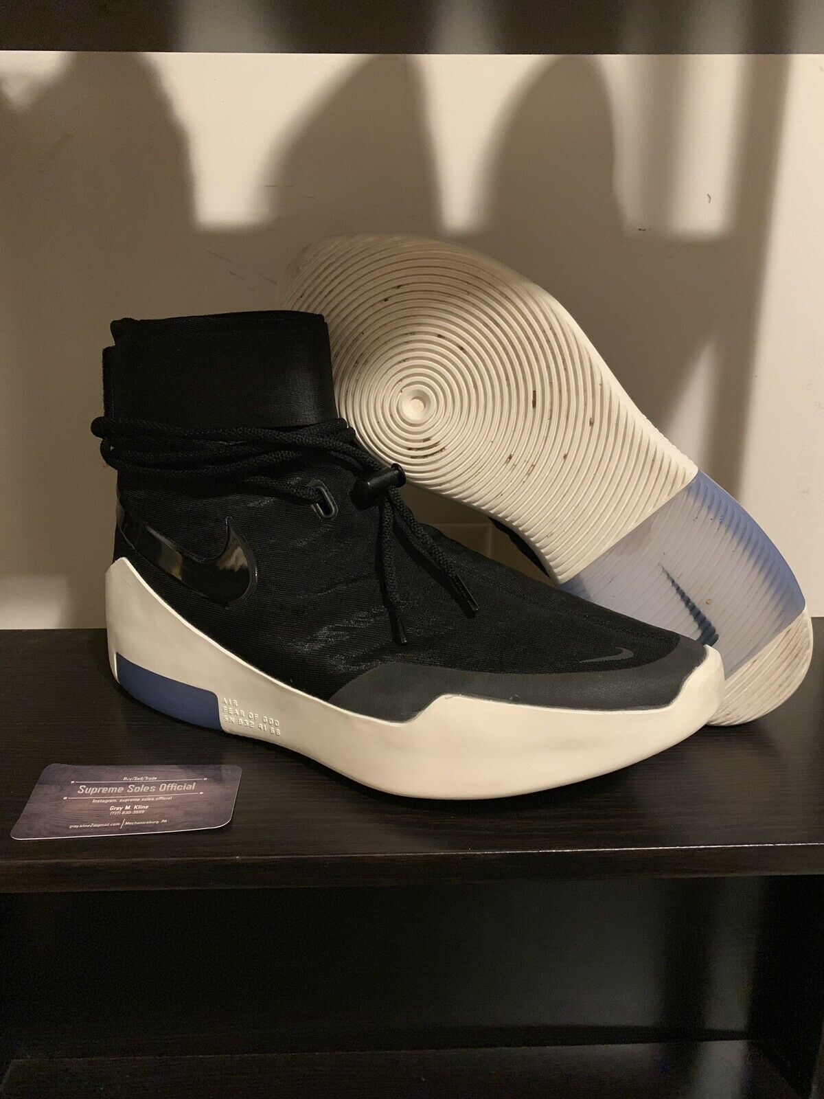 Nike Air Fear Of God 1 Black Light Bone FOG Shoot Around Jerry Lorenzo (SIZE 13)