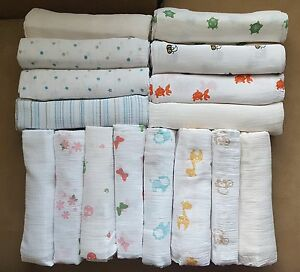 Aden + Anais Baby Swaddle Plus Cotton Muslin 44x44 Girl Boy Unisex New