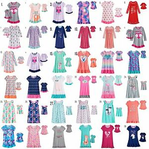 Girl-4-14-and-Doll-Matching-Nightgown-Pajama-Clothes-American-Girls-Dollie-amp-Me