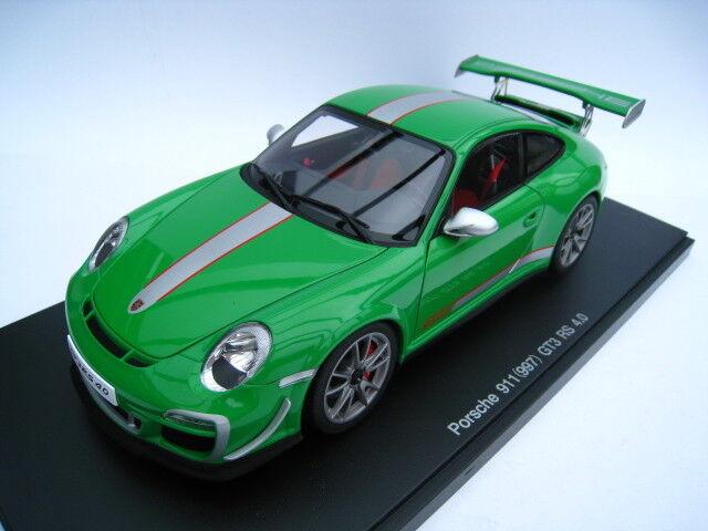 Porsche 911 (997) gt3 RS 4.0 en verde Autoart escala 1 18 nuevo embalaje original