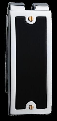 Colibri Men/'s  BLACK MAT  Stainless Steel Money Clip AMC043100  NEW IN BOX
