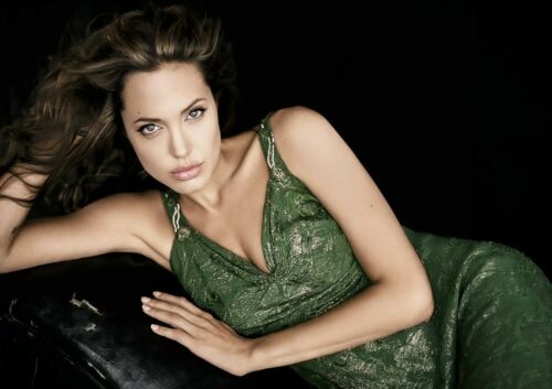 Angelina Jolie #1 American Actress Poster Film Star Photo Beauty Lady Picture