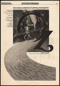 THE-WIZARD-OF-OZ-Original-1976-Trade-AD-poster-MICHEL-GRILIKHES-MUSICAL-1989