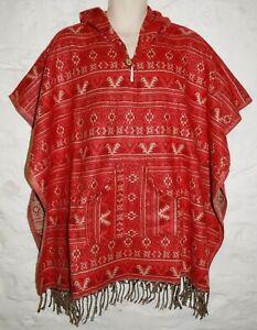 Details about New Fair Trade Acrylic Fleece Poncho Free Size Ethnic Boho  Hippy Hippie Square