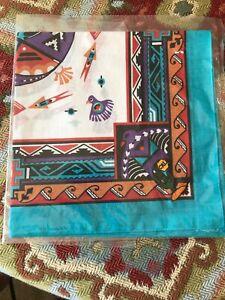 New-Vintage-Wamcraft-Bandana-Handkerchief-Scarf-USA-Southwest-doo-rag-Blue