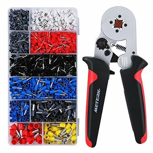 Meterk Ferrule Crimpers Pliers 1800pcs Wire Ferrule Crimping Tool kit