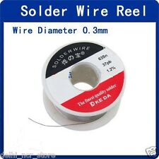 Pack of 2 Tin Lead Flux Core Solder Wire 0.3mm Diameter Reel For Best Soldering