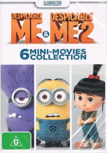 1 of 1 - Despicable ME & Despicable ME 2: 6 MINI-MOVIES Collection DVD NEW NEW RELEASE R4