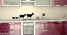 Goat family country kitchen decal set in 5 colors
