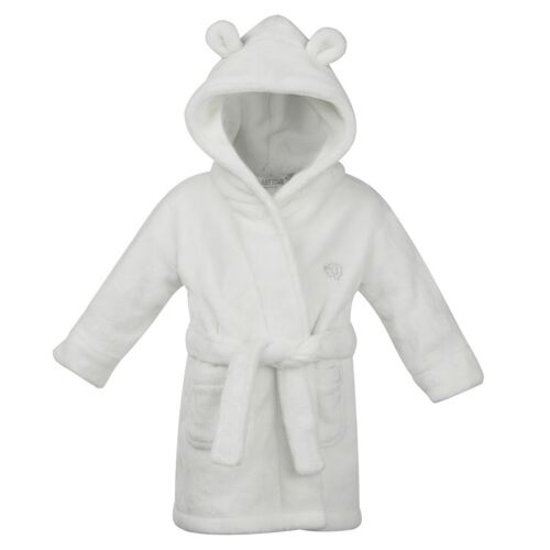toddlers cute soft hooded dressing gown robe babys, babies, blue or pink Baby