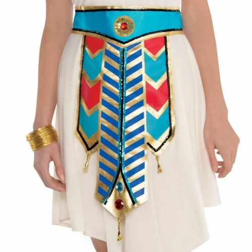 New Ladies Gold Cleopatra Egyptian Goddess Belt Nile Queen Fancy Dress Accessory