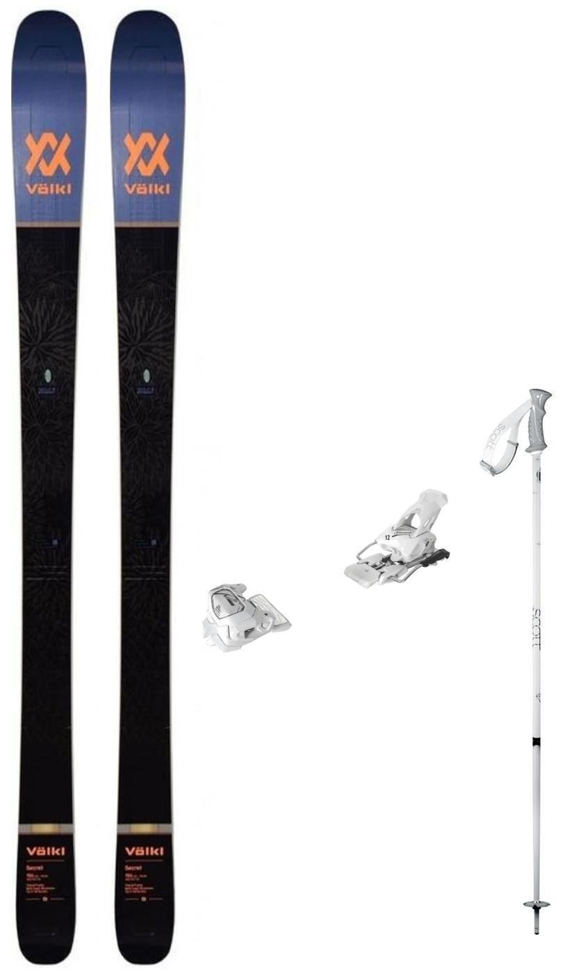 Volkl Secret 156cm snow skis w  Bindings (inc POLES at BuyItNow) NEW 2019