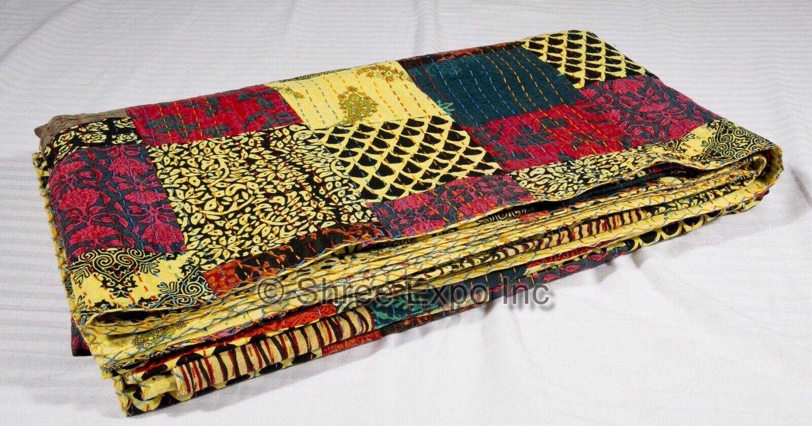 Patchwork handgemachte indische Quilt King Size Kantha Quilt King Size Tagesdeck