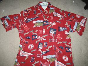 c4b76d70 BOSTON RED SOX HAWAIIAN SHIRT CLASSIC