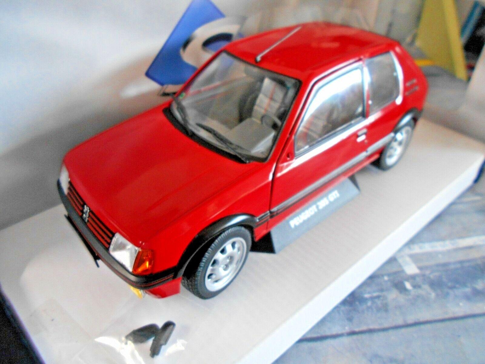 Peugeot 205 GTI MKI 1.9 Sport Sport Sport 1985 rojo rojo nuevo solido metal 1 18 2b0523