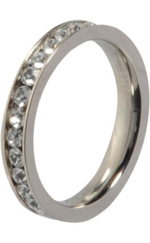 Melano vorsteckring beisteck anillo Eva tamaño 60 m 01r4993 cristal estrecho Side